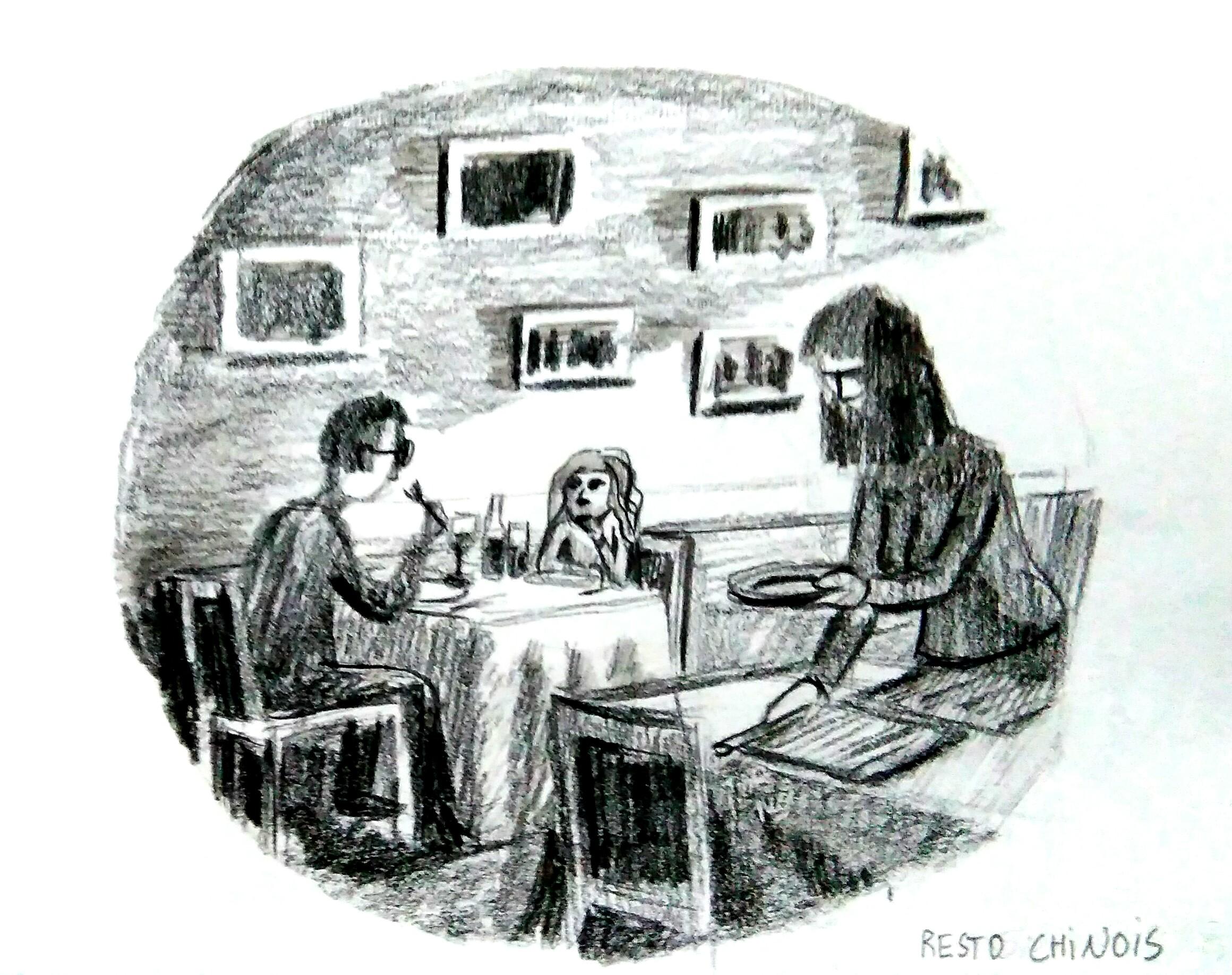 dessin au fusain